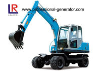 48kw 45kn Steering 4 Wheel Excavator , Rated Speed 2200r/min