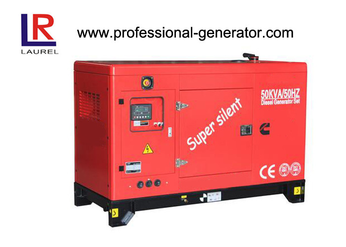 AC Three Phase 125kVA Cummins Silent Diesel Generator Set Water Cooling 50Hz / 60Hz