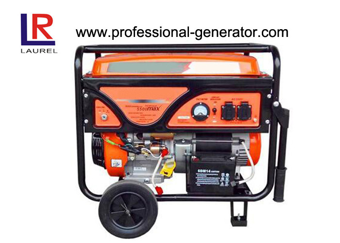 Portable 5.5kw Gasoline Power Generators with Single cylinder Forced Air cooled Engine