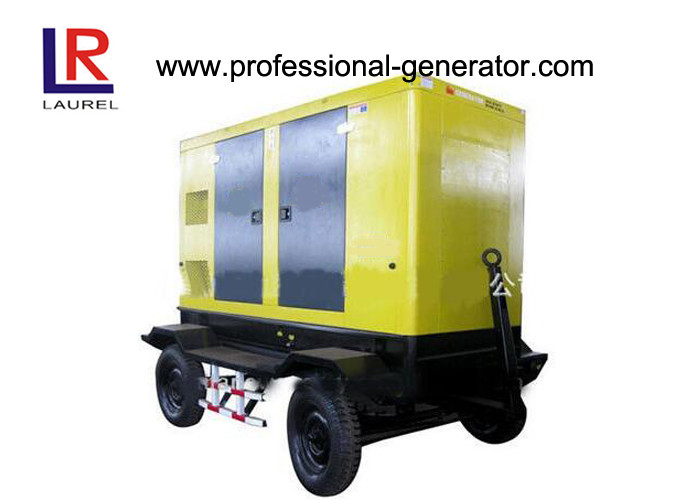 Automatic Trailer Type Mobile Power Generator Station Electric Governer 30kw Diesel IP23