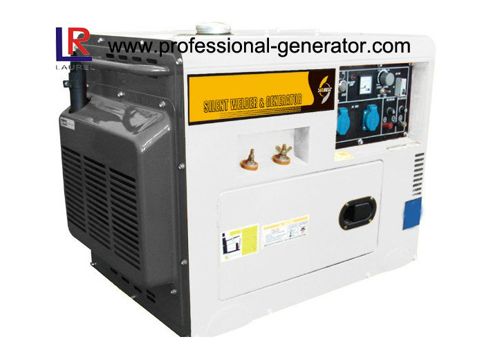5.5kVA Single Phase Electric Start Silent Type Diesel Welder Generator for Home
