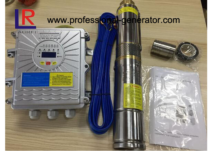 Solar Powered Controller Agricultural Water Pump Brushless DC Solar Submersible Pump