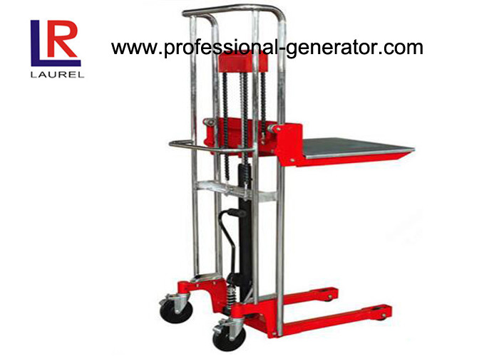 Warehouse Transport Equipment High Lift Hand Mini Stacker With Standard Platform