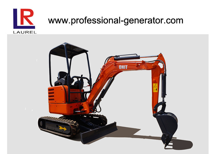 1.8 Tons Digging Wheel Mini Excavator Heavy Construction Machinery  , 0.05cbm Vibratory Plate Compactor